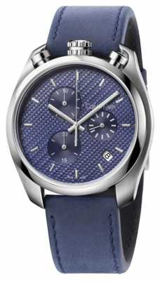 Calvin Klein Mens Control Watch Blue Leather Blue Dial K6Z371VN