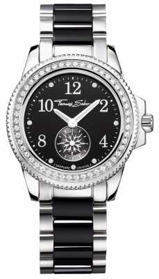 Thomas Sabo Ladies Glam Chic Ceramic Black/Silver Watch WA0169-222-203-33