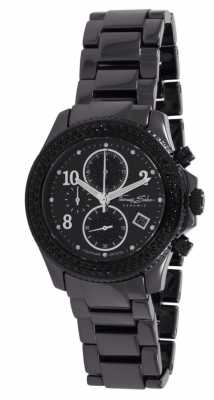 Thomas Sabo Ladies Glam Ceramic Chronograph Black WA0181-220-203-40