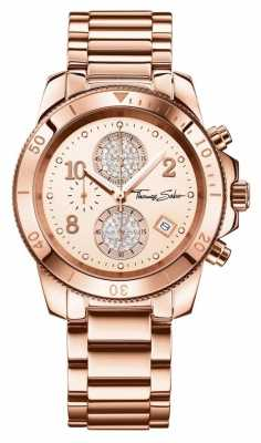 Thomas Sabo Ladies Glam Chrono Rose Gold WA0192-265-208-40