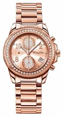 Thomas Sabo Ladies Glam Chrono Rose Gold 33mm WA0218-265-208-33