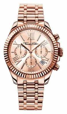 Thomas Sabo Womens Divine Chrono Rose Gold 38mm WA0222-265-208-38