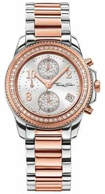 Thomas Sabo Ladies Glam Chrono Stainless Steel/Rose Gold WA0241-272-201-33