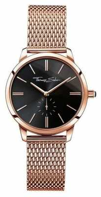 Thomas Sabo Ladies Glam Spirit Rose Gold, Black Dial WA0249-265-203-33