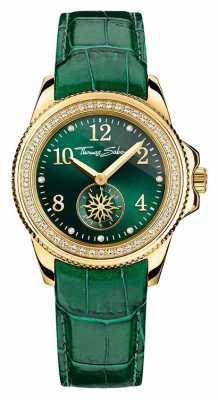 Thomas Sabo Ladies Glam Chic Green Leather Green Dial WA0255-276-211-33