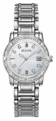 Bulova Ladies Diamond Stainless Steel 96W105