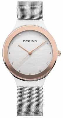 Bering Ladies Silver/ Gold Mesh 12934-060
