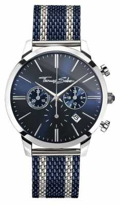 Thomas Sabo Mens Rebel Spirit Chronograph Navy WA0285-281-209-42
