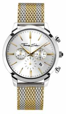 Thomas Sabo Mens Rebel Spirit Chronograph Yellow Gold WA0286-282-201-42