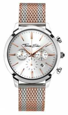 Thomas Sabo Mens Rebel Spirit Chronograph Rose Gold WA0287-283-201-42