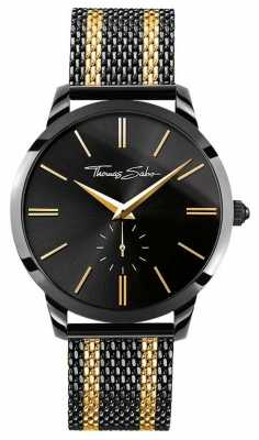 Thomas Sabo Mens Rebel Spirit Chronograph Yellow Gold Black WA0288-284-203