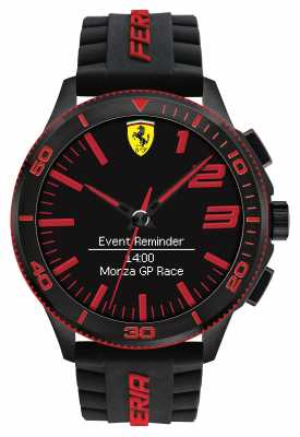 Scuderia Ferrari Mens Alarm Watch Black Red 0830375