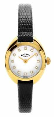Rotary Womans Gold Plated Leather Strap LS05015/11