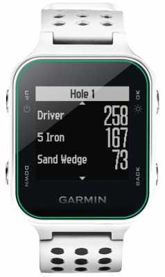 Garmin Mens S20 Golf GPS White 010-03723-00