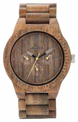 WeWood Mens Kappa Army Wooden Brown Strap 70315100