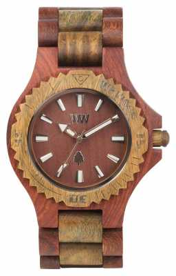 WeWood Womens Date Cherry Army Wooden Strap 70304108