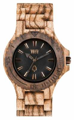 WeWood Womens Date Zebrano Rough Wooden Strap 70304723