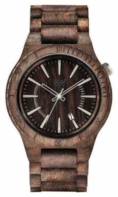 WeWood Mens Assunt Choco Rough Wooden Strap 70321511