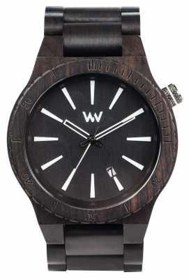 WeWood Mens Assunt Black Wooden Strap 70321300