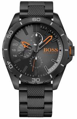 Hugo Boss Orange Mens Berlin Black IP Steel 1513293
