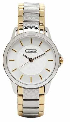 Coach Womens Classic Signature Two Tone Stainless Steel White Dial 14501610