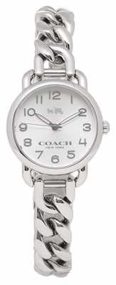 Coach Womens Delancey Stainless Steel Bracelet Silver Dial 14502259