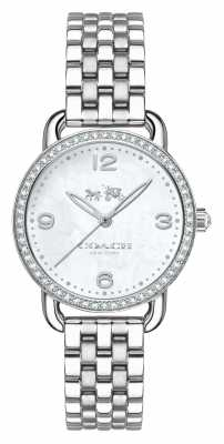 Coach Womens Delancey Stainless Steel Bracelet Silver Dial 14502477