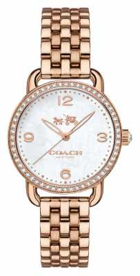 Coach Womens Delancey Rose Gold PVD Plated Stone Set Case 14502479