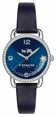 Coach Womens Delancey Blue Leather Strap Blue Dial 14502668