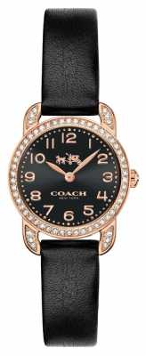 Coach Womens Delancey Black Leather Strap Black Dial 14502670