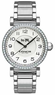 Coach Womens Madison Stainless Steel White Dial 14502396