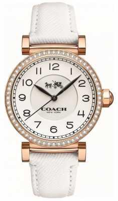 Coach Womens Madison Fashion White Leather Strap White Dial 14502401