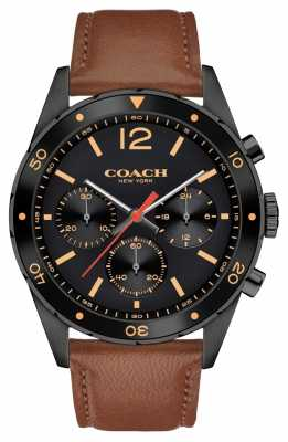 Coach Mens Sullivan Sport Chronograph Brown Leather Strap 14602070