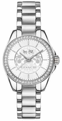 Coach Womens Tristen Stainless Steel Silver Dial 14502464