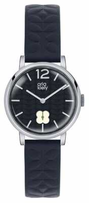 Orla Kiely Womans Navy Leather Strap Navy Sub Dial OK2005