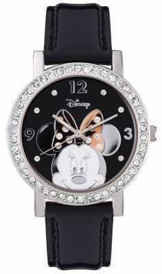 Disney Adult Minnie Mouse Stainless Steel Silver Case MN1149