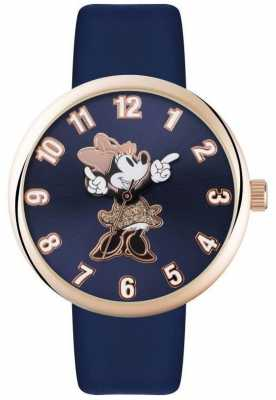 Disney Adult Minnie Mouse Rose Gold Case Blue Strap MN1471