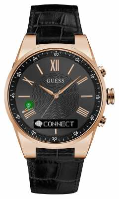 Guess CONNECT Black Leather C0002MB3