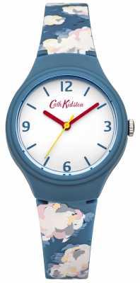 Cath Kidston Ladies Blue Cloud Silicone Watch CKL023N