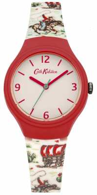 Cath Kidston Ladies Red And White Silicone Cowboy Watch CKL023CL