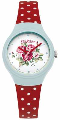Cath Kidston Ladies Flower Dial Red Polka Dot Watch CKL024UR