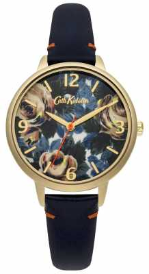 Cath Kidston Ladies Deep Blue Leather Oxford Rose Watch CKL 001UG