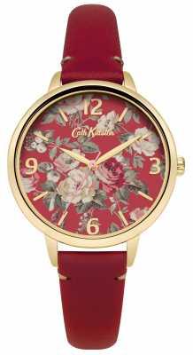 Cath Kidston Ladies Red Leather Garden Rose Watch CKL001RG