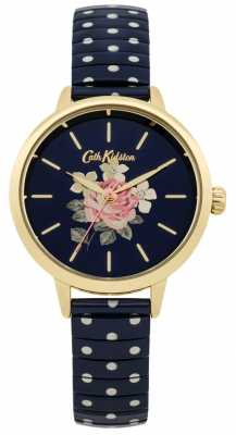 Cath Kidston Ladies Navy Polka Dot Richmond Watch CKL009UG