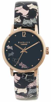 Radley Doodle Dog Midnight Printed Leather Strap RY2272