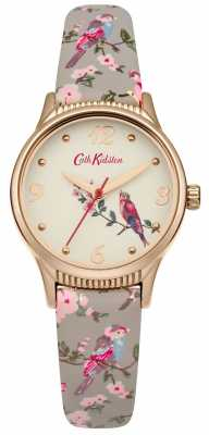 Cath Kidston Grey Base Printed Birds Graphic CKL013ERG
