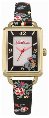 Cath Kidston LADIES' SPRAY FLOWERS BLACK STRAP WATCH CKL019BG