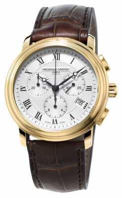 Frederique Constant Mens Classic Chronograph Brown Leather Strap FC-292MC4P5