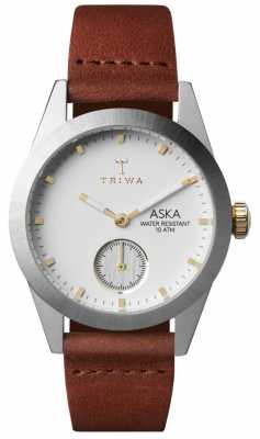Triwa Womans Snow Aska Brown Leather AKST102-SS010213