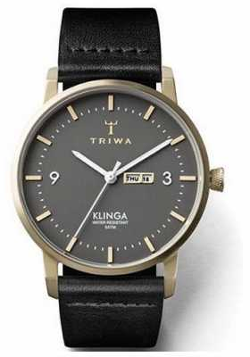 Triwa Unisex Ash Klinga Black Leather KLST107-CL010217